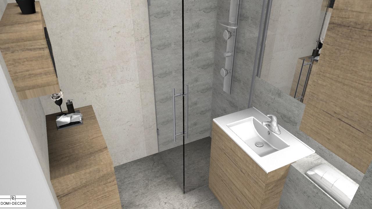 Szara Betonowa łazienka Z Drewnem To Nie Zawsze To Samo